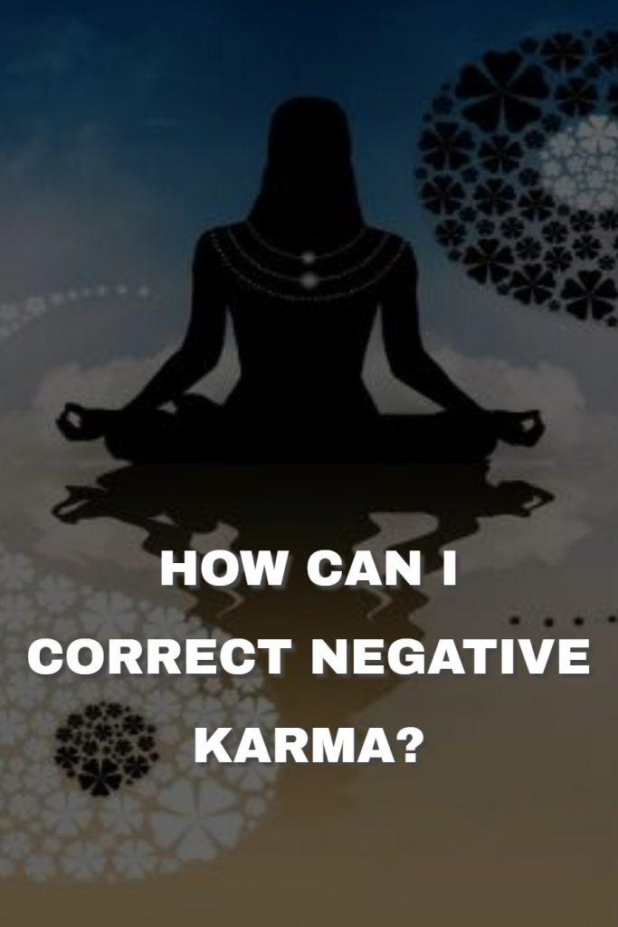 How can i correct negative karma? 1