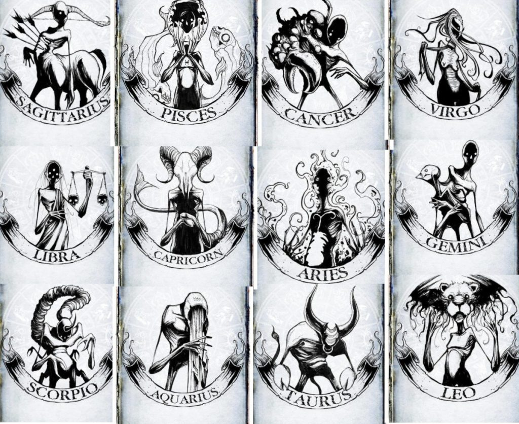 Discover The Dark Secrets Of Your Zodiac Sign Through These Creepy Sketches 1