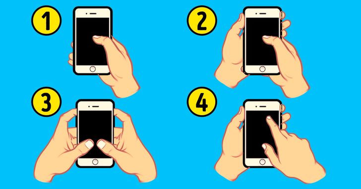 How You Hold Your Smartphone? Your Choice Will Reveal the Truth About You! 1
