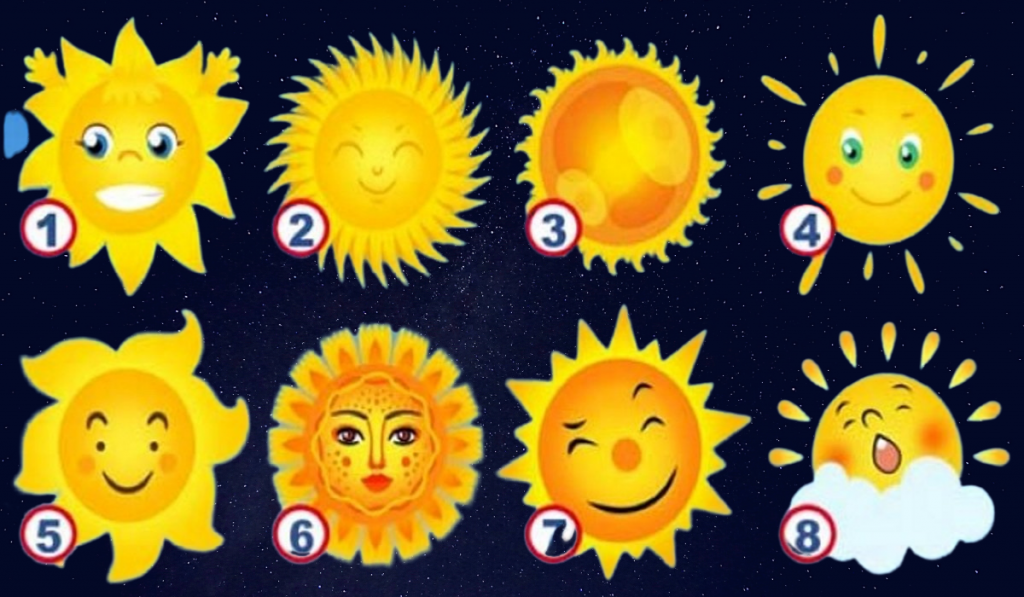 Choose a Sun! It Will Show The Positive Characteristic Of Your Personality... 1