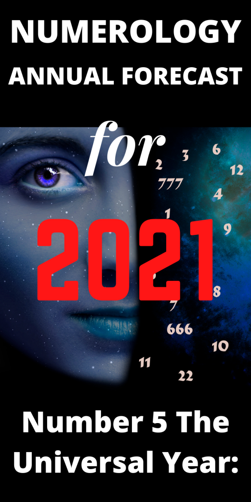 Number 5 The Universal Year: Numerology Annual Forecast for 2021! 1