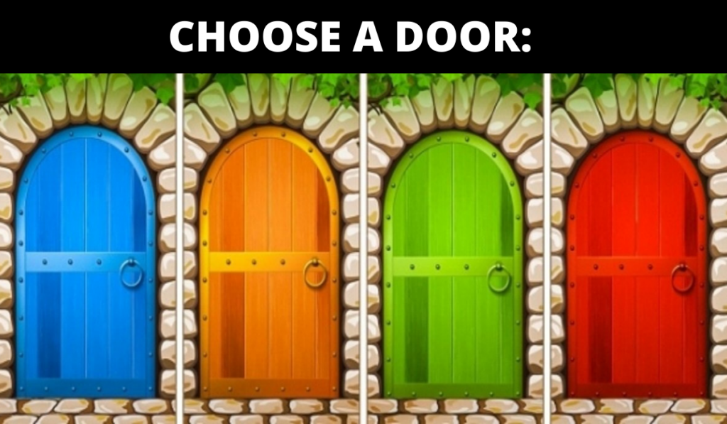 What Your Mind is Hiding? Test : Select One of These Four Doors and Find Out! 1