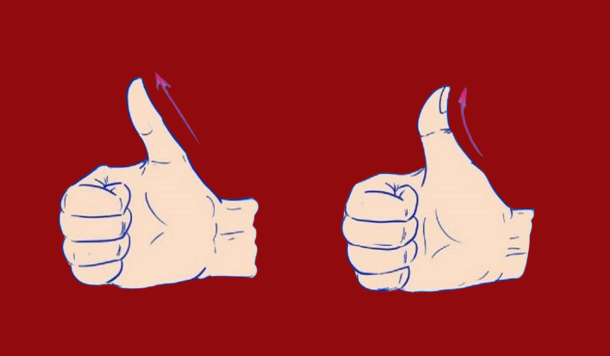 Test: Is Your Thumb Curved or Straight? Here is What it Can Tell You About Your Personality: